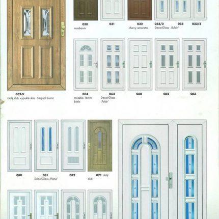 Leták plastových dverí