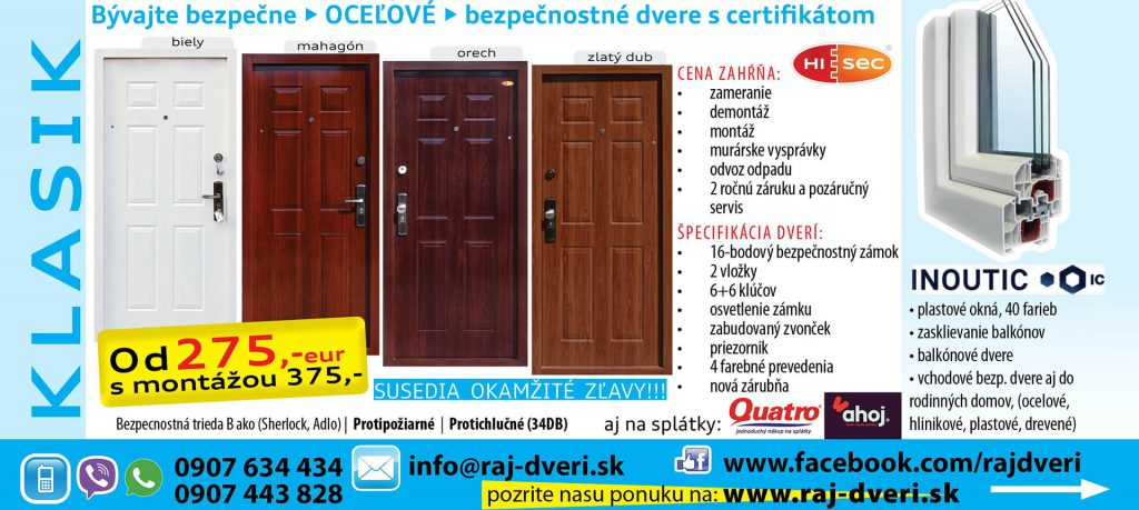 Bezpečnostné dvere s certifikátom