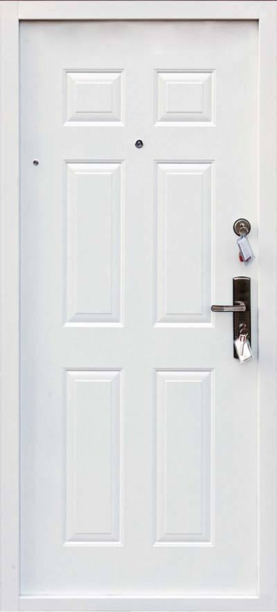 Bezpečnostné dvere HISEC Klasik | Biela