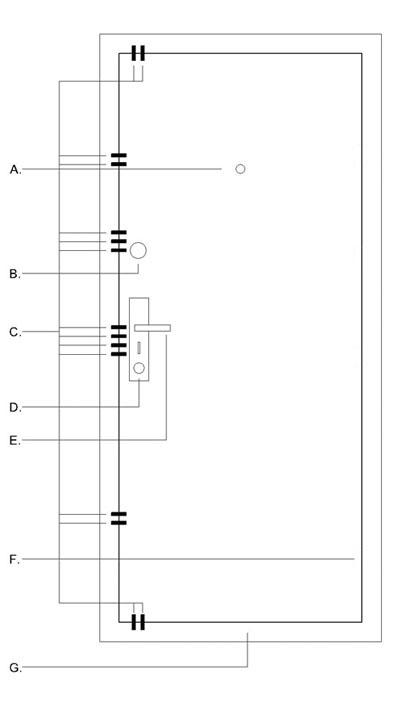 Technický nákres HISEC dvere