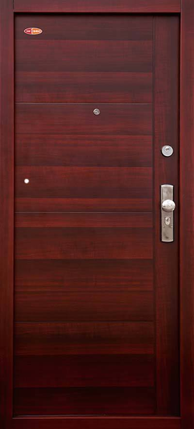 Bezpečnostné dvere HISEC Trend+ | Mahagón